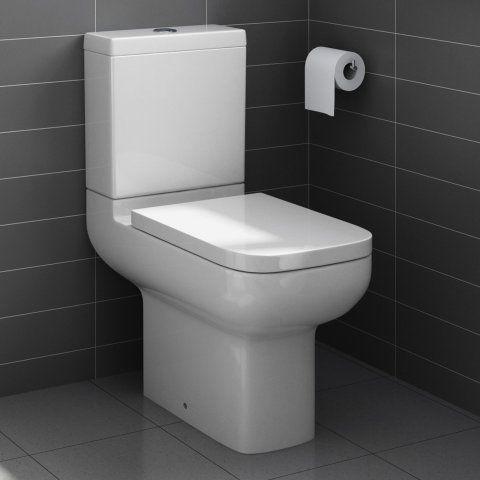 Short Projection Close Coupled Toilet & Cistern inc Soft Close Seat
