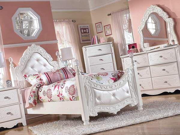Exquisite 3 Piece Twin Poster Bed Bedroom Set Furniture Bed