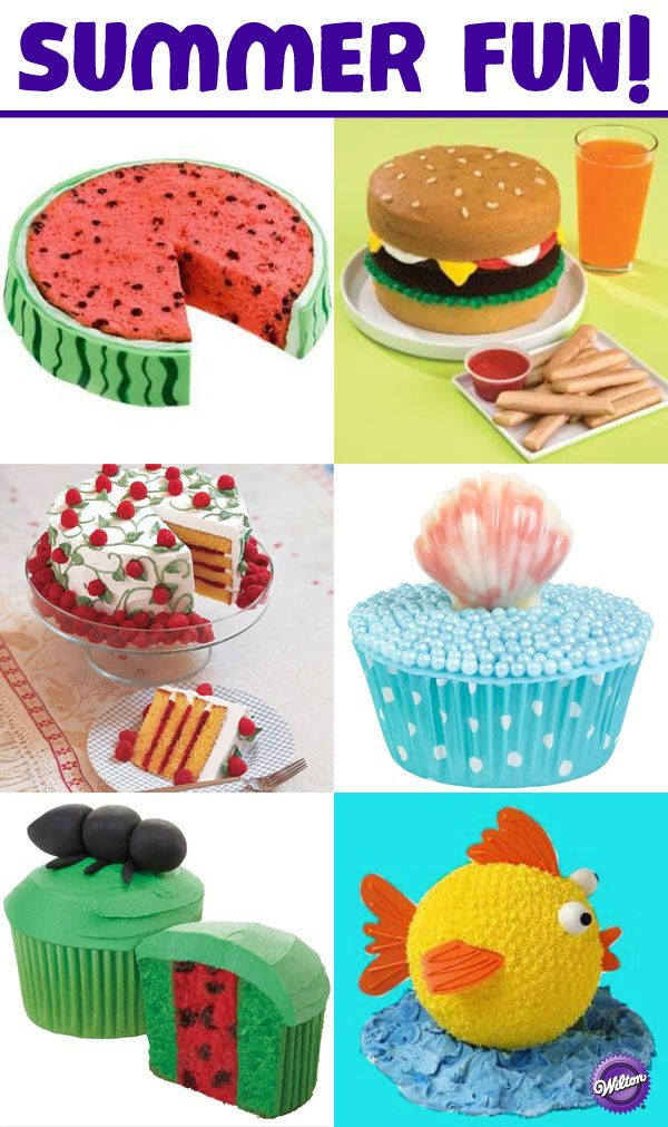 Summertime and the living's easy and the baking is fun! Check out the Wilton Summer Fun board for some cute baking and decorating ideas to add to your BBQs, picnics and other summertime get-togethers.