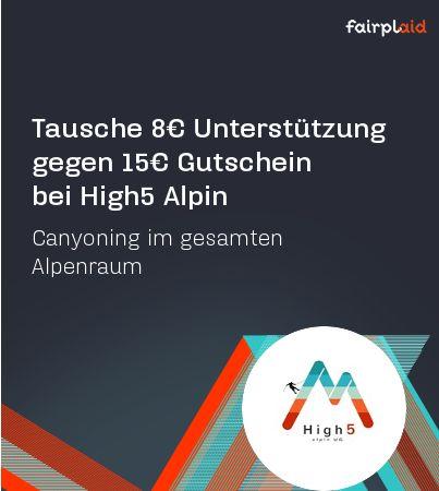 Canyoning- Abenteuer pur im gesamten Alpenraum. Für 8€ in ein Projekt deiner Wahl bekommst du 15€ geschenkt!  Mehr gibt's hier: http://goo.gl/4UzxQT  #fairplaid #gutscheine