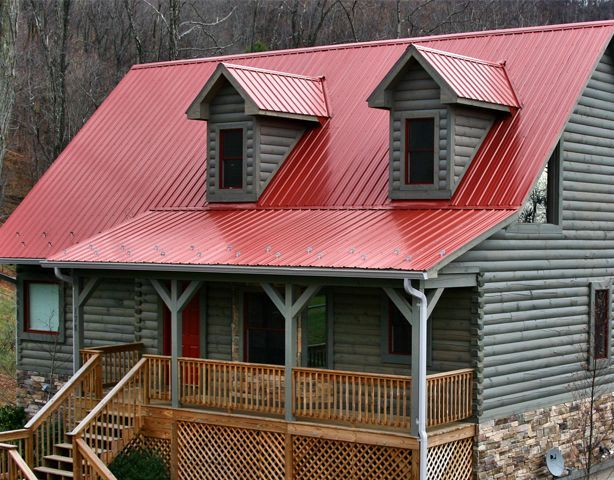 Best A Bright Red Color For Your Metal Roof From Walnut Creek 400 x 300