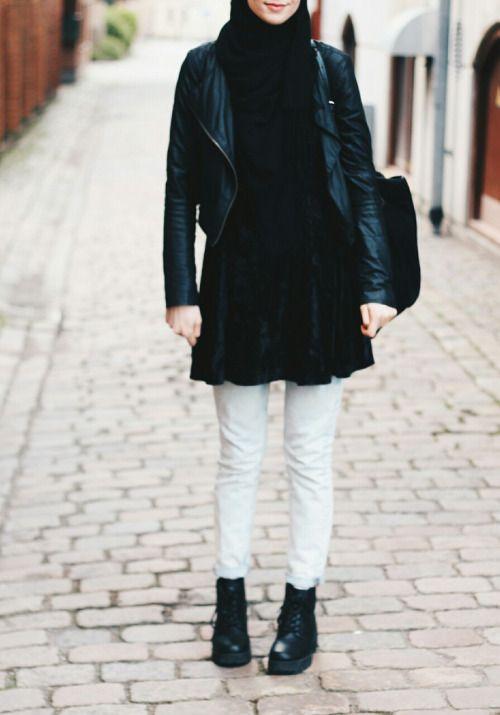 Grunge Hijab Styles – 15 Best Grunge Hijab Looks This Season