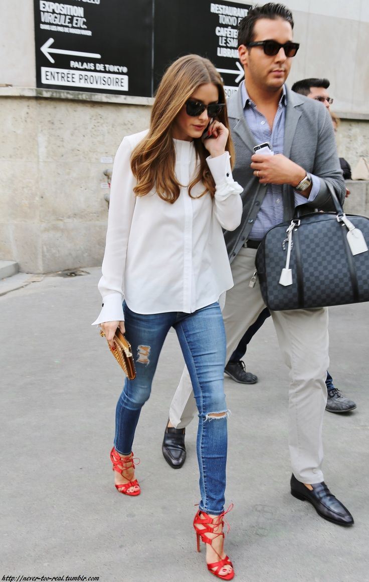 white + red olivia palermo