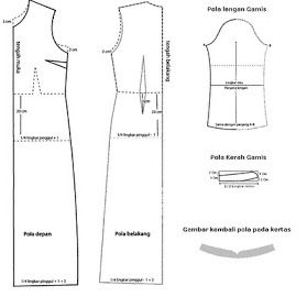 Cara Menjahit Pakaian: Pola Gamis Dengan Krah Syal