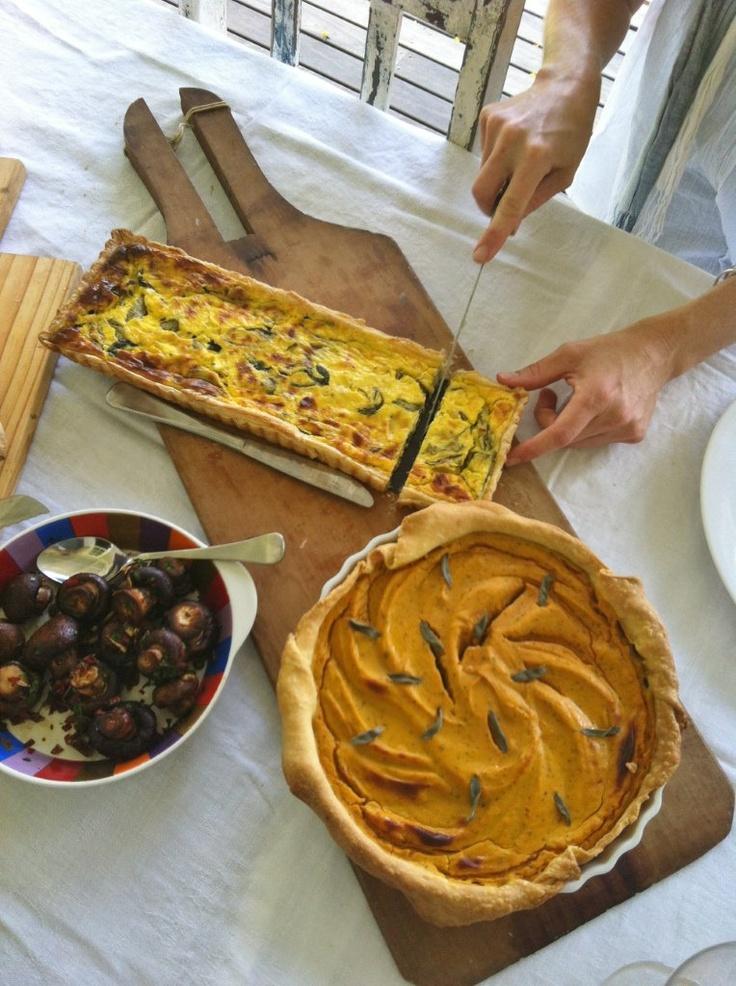 Sweet potato and sage tart