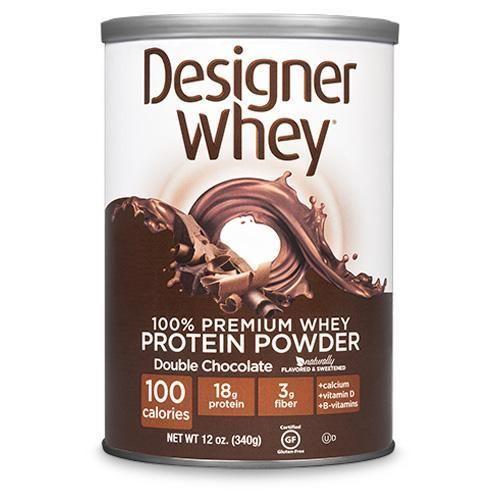 Designer Whey Protein Powder Double Chocolate - 12.7 Oz