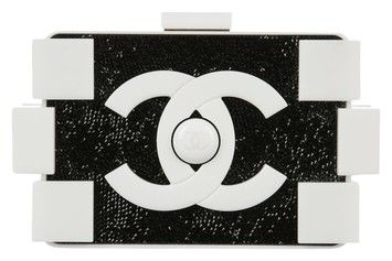 Chanel Lego White Lucite/Black Swarovski Crystals Clutch ($11,995.00)