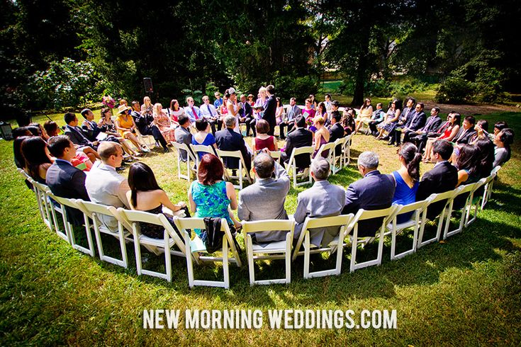 outdoor wedding ceremony circle. Wedding Photography and Videography by New Morning Weddings in North Carolina. www.newmorningweddings.com