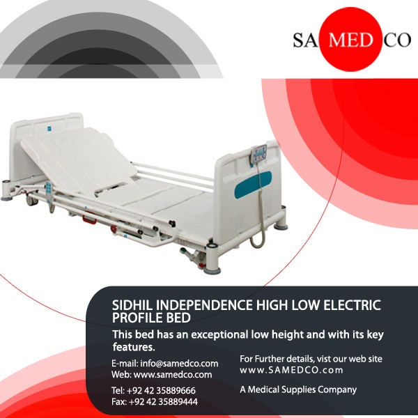 This is Sidhil Independence High Low Electric bed normally used in Hospitals it has a special low height and comes with its key features it can be utilized as an everyday delicate hospital ward bed without cooperation on patient results.