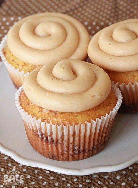 Cinnamon Roll Cupcakes Using Cake Mix