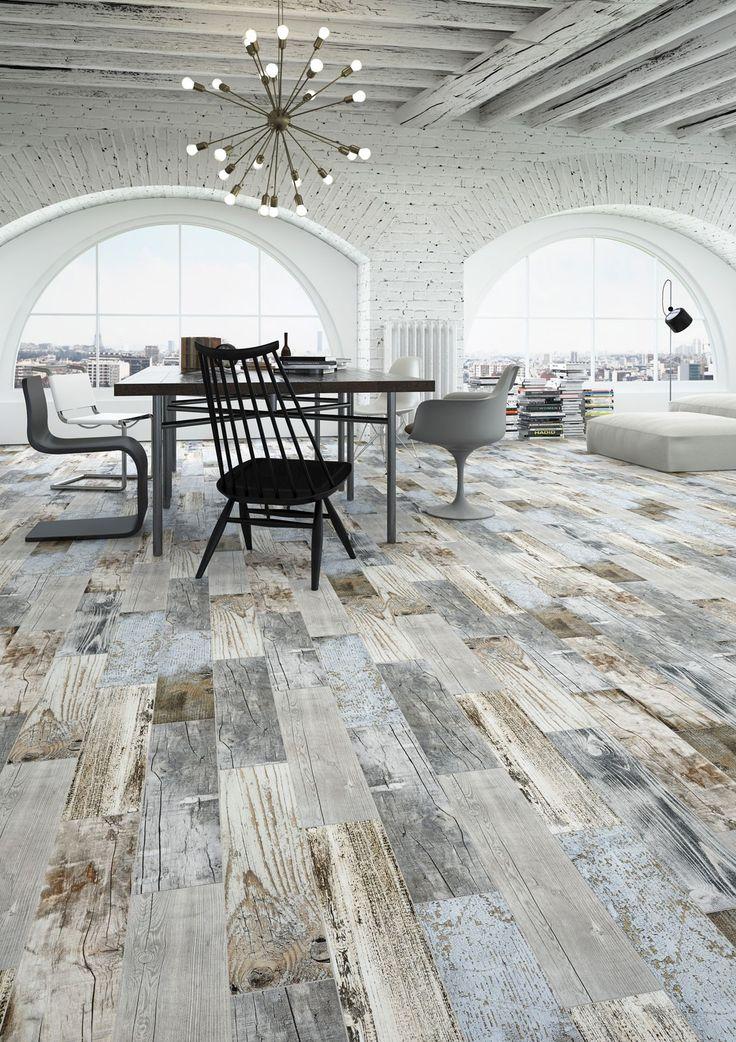 Vinci Blue Wood Effect Floor and Wall Tile