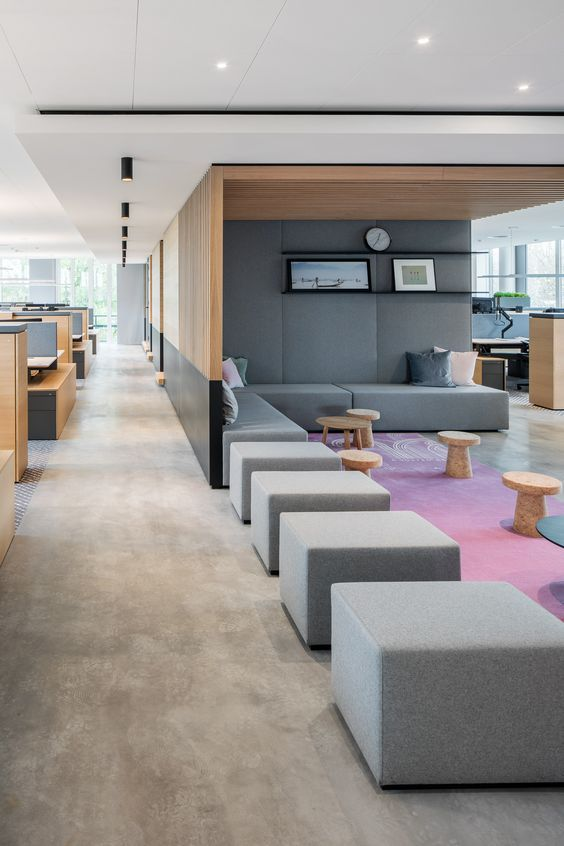 Lovely Soft Colour Palette For A Commercial Space Modern