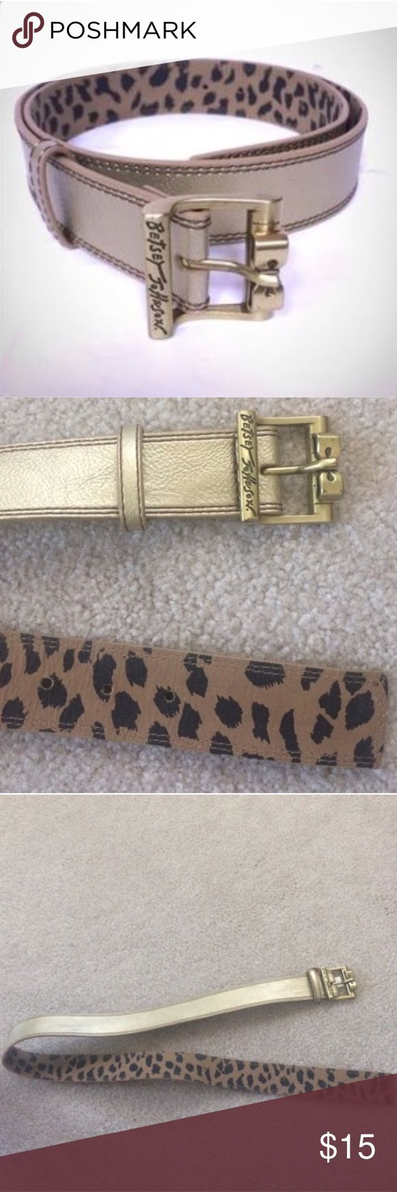 🎉HP Betsey Johnson Gold Metallic Bow Belt Leopard 🎉HOST PICK🎉 Betsey Johnson gold metallic belt, gold bow buckle, Size Small, leopard print on inside, about 38 inches long, adjustable holes, in very good condition. Please ask any questions  💲Price is firm unless bundled💲 🚫No Trades🚫 📦Ask About Bundle Discounts💰 Betsey Johnson Accessories Belts