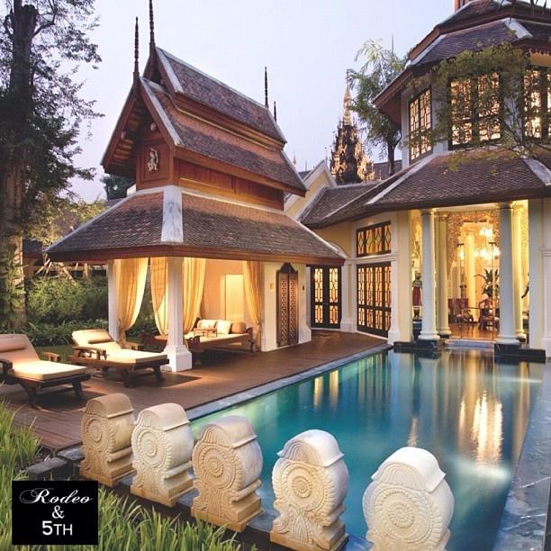 Luxurious Mandarin Oriental Dhara Dhevi, Chiang Mai, Thailand. #rodeoand5th #luxury #destinations #pool #thailand #design #decor #Padgram
