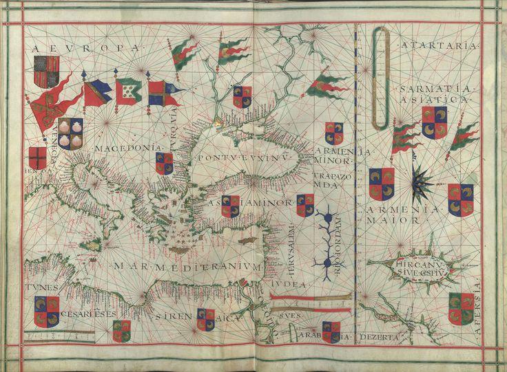 """Il. 171 - 0022 Fernão Vaz Dourado (1520-1580) -  """"Atlas"""" / [Atribuído a Fernão Vaz Dourado]. [Cerca de 1576].   BNP IL. 171"""