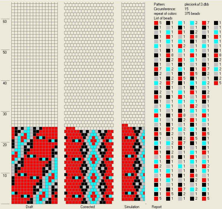 Pattern by Jola Kamienska.  15 around