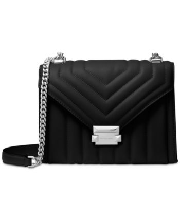 69a7fd2c8335 Michael Michael Kors Whitney Quilted Leather Shoulder Bag - Black