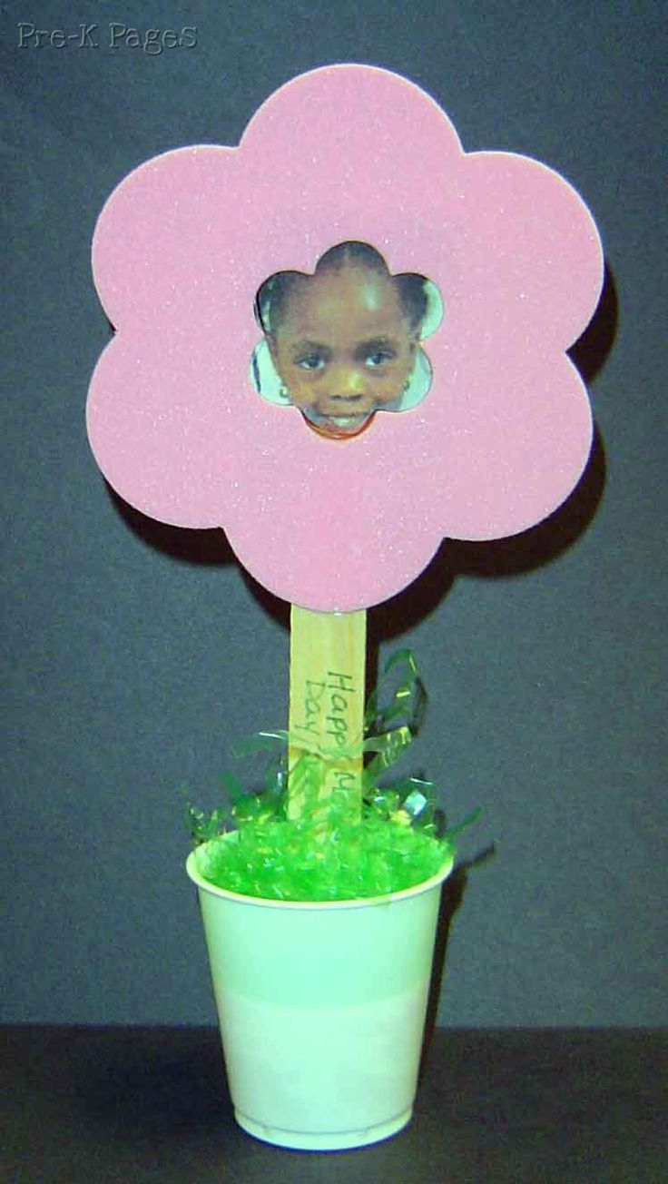 #mothersday flower pot photo frame #preschool #kindergarten via www.pre-kpages.com