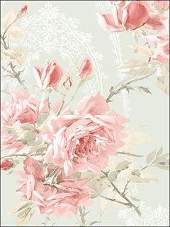 Roses Wallpaper  Brand:Norwall  Book:Rose Garden  Item #:WTG-100573