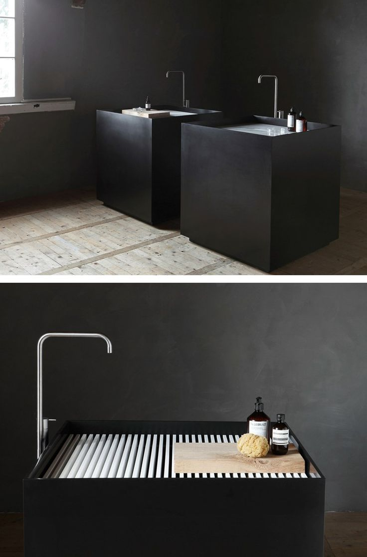 Freestanding Carrara Marble Washbasin SCAPE MONOLITH By
