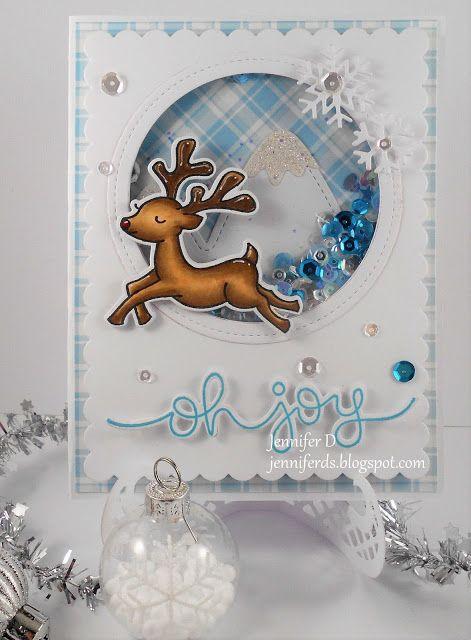 JenniferD's Blog: Lawn Fawn Critters In The Snow Shaker Card
