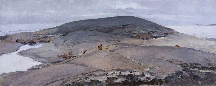 Venny Soldan-Brofeldt (Finnish, 1863 - 1945): Rantakallioita (via Hagelstam & Co)