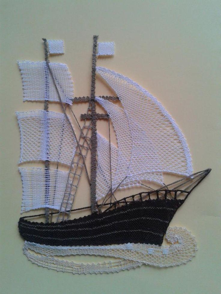 Palickovana lod / margitkabb - SAShE.sk - Handmade Obrázky