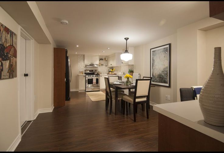 Open Concept Basement Kitchen And Dining Area