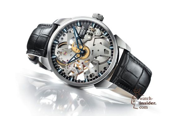 #Tissot T-Complication Squelette: If you ever wanted to buy a technical-looking, skeletonized watch that offers you a horological cinema for the eyes, consider this one, equipped with an ETA 6497 and priced at only $1,950.