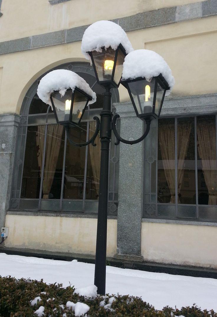 Luci della sera al Santuario di Oropa! #neve #snow #chiesa #church #montagna #mountain #Alpi #Alps #Biella #Piemonte