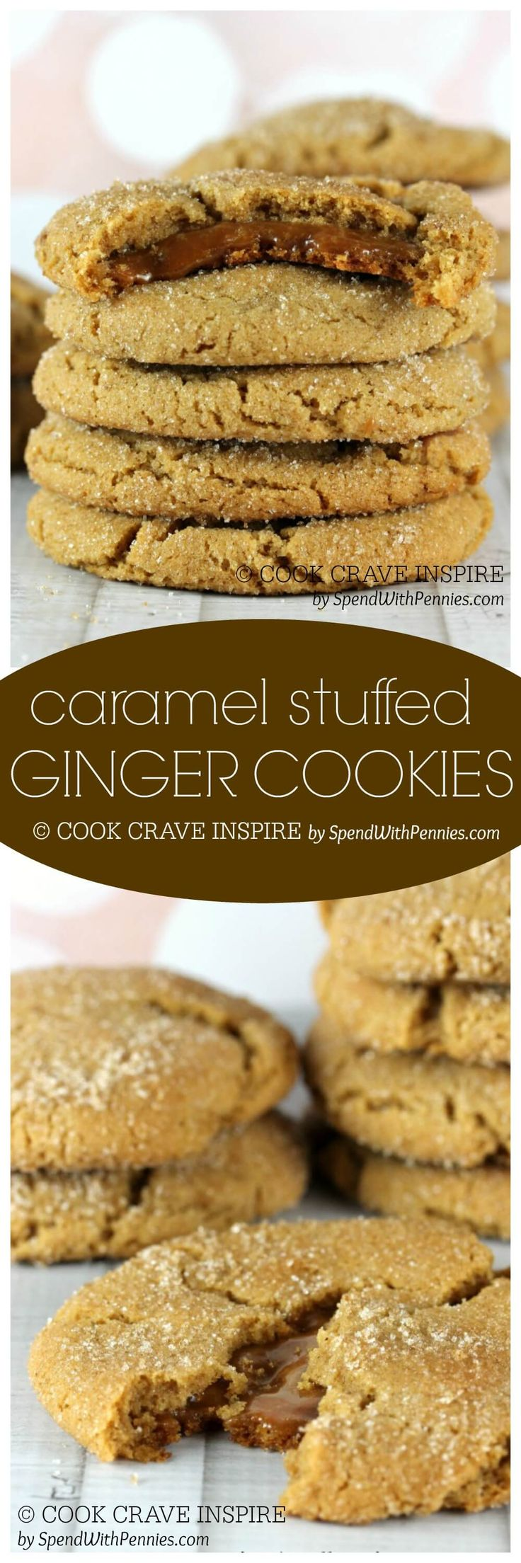Caramel Filled Ginger Cookies | Recipe | Ginger Cookies, Chewy Ginger ...