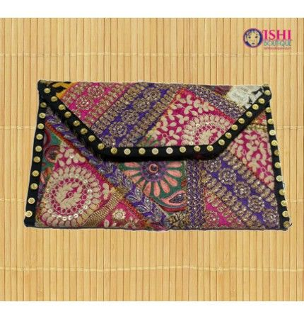 Rajasthani Handcrafted Multi Coloured Clutches