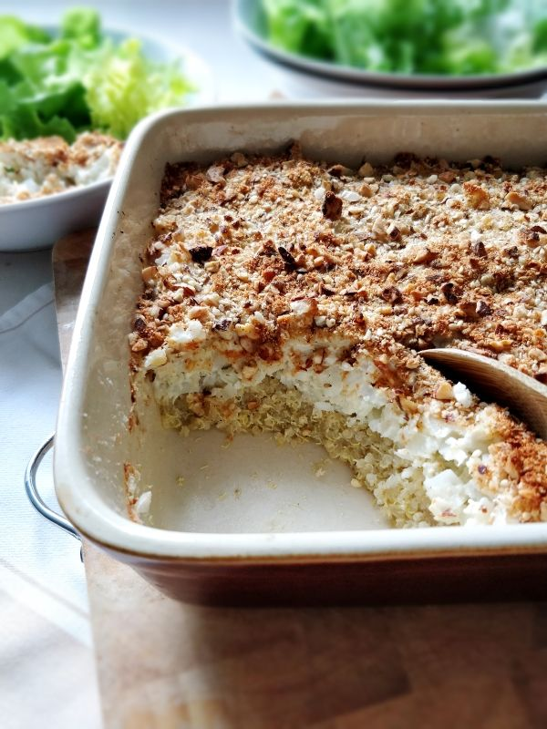 Gratin de chou-fleur, quinoa et amande (vegan)