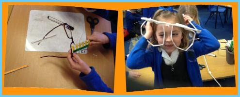 Maths through stories - Jim and the Beanstalk measuring glasses