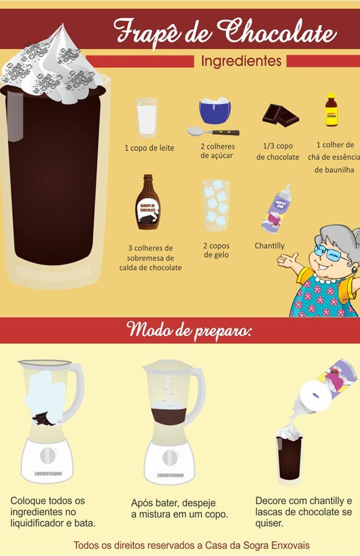 Já experimentou FRAPÊ DE CHOCOLATE?  Hummm...é uma delícia! Aprenda a fazer em casa! Veja mais em: http://dicasdacasa.com