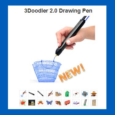 This is simply awesome! The New 3Doodler 3D Drawing Pen. http://grandkidgalaxy.com/3doodler-2-0-drawing-pen/