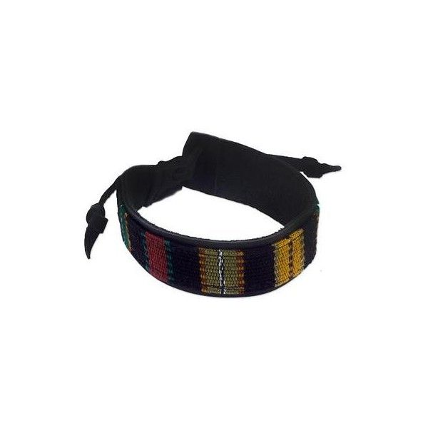 NOVICA Men's Leather Black and Multicolor Handwoven Bracelet ($28) ❤ liked on Polyvore featuring men's fashion, men's jewelry, men's bracelets, black, bracelets, clothing & accessories, jewelry, wristband, mens leather braided bracelets and mens watches jewelry