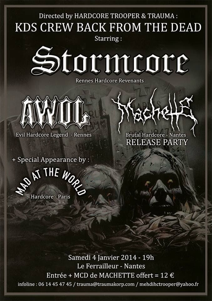 STORMCORE live with AWOL and MACHETTE - Nantes january the 4th !