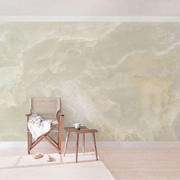 Tapeten - Vliestapete Marmor Tapete - Onyx Marmor Creme - Fo - ein Designerstück von YOURDECOSHOP bei DaWanda