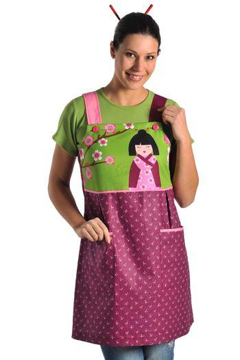 Pichi Geisha Dyneke 8334-195 para maestras de educación infantil. #DNK #Dynekeschool http://www.dyneke.com/bata-profesora-pichi-maestra/escolar-profesora-estolas-y-pichys-8334195