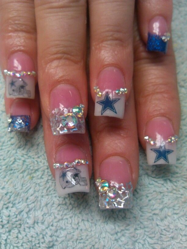 55 best dallas cowboys nail designs images on pinterest cowboy cowboys nails prinsesfo Choice Image