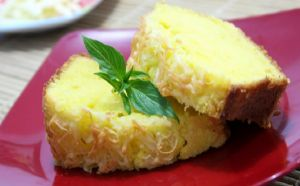 Cake Labu Kuning Keju Manis