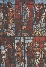 витраж Окно 'Вознесение', собор святого Юлиана;ок.1145; Ле Ман, Франция