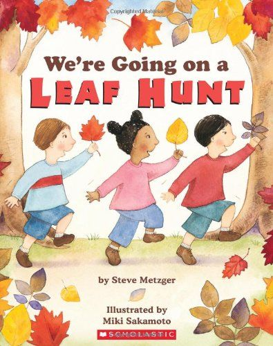 Join three friends on a fun leaf-finding adventure!  This bouncy new version of the popular song begs to be read out loud.There are lots of beautiful fall leaves to find!  Three friends have a big adventure hiking over a mountain and through a forest to collect leaves of all kinds and colors.  What will they do with all their leaves at the end of the story?  Jump and play in them, of course!With easy rhyming text and fun sound effects, children will delight in this rollicking autumn story.