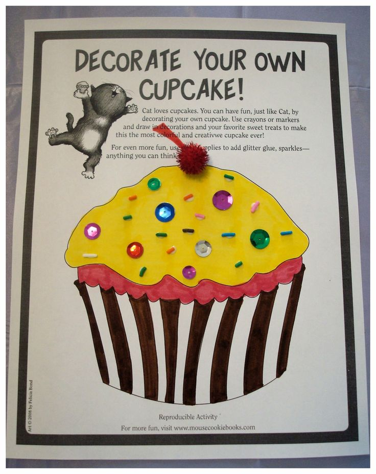 If you Give a Cat a Cupcake - cupcake decorating activity