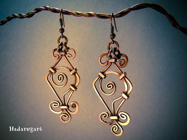 Hadarugart: Cercei din cupru handmade