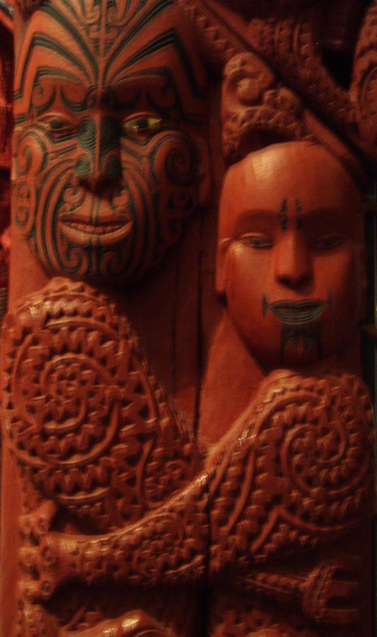 The New Zealand Maori associate red with nobility and divinity as seen in their sculptures.