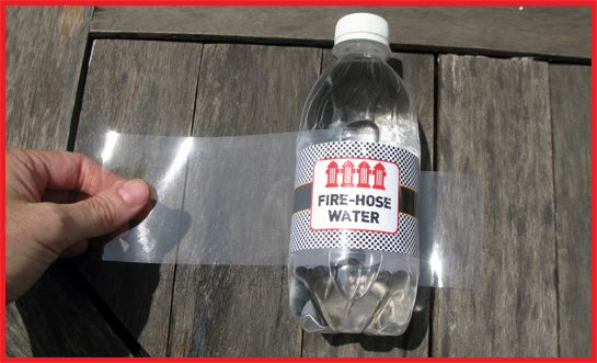 Save $$ by using Contact Paper to waterproof water bottle labels...