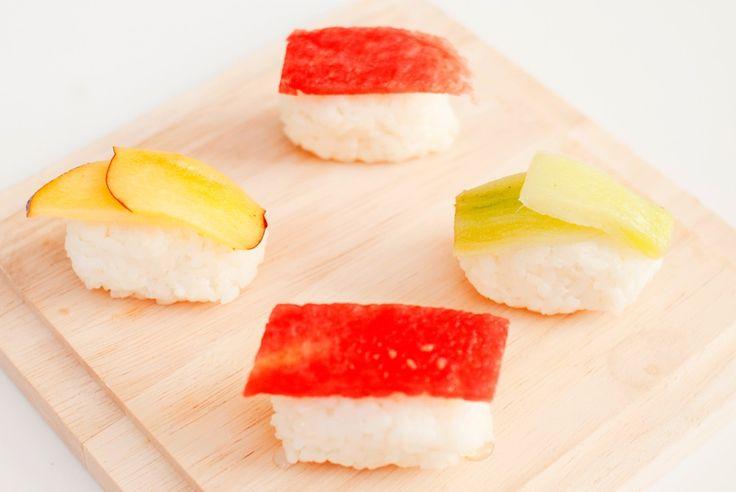 vegansk dessertsushi fruktsushi oppskrift