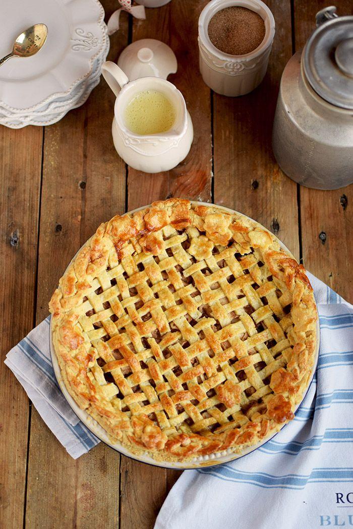 Lattice Apple Pie - Apfelkuchen Mit Knuspriger Gitter Decke   Das Knusperstübchen